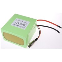 12v 10ah lifepo4 e-bike battery pack