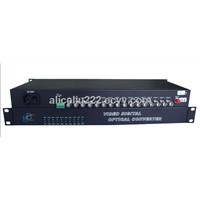 16 Channel Digital Video Audio Fiber Optical Multiplexer