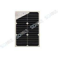 18W semi-flexible solar panel for boat or car use