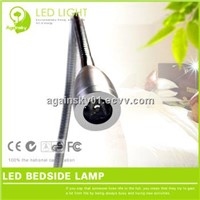 1W High Power LED Bedside Light with Stretch Flexible Metal Tube