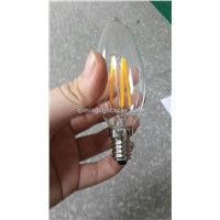 1.5w E12 led candle light warm white 360 clear ce rohs