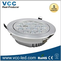 2014 aluminium 18W led downlight epistar dimmable