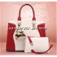 2014 hot women pu leather elegant embossing hand bags with animal decoration Shoulder straps