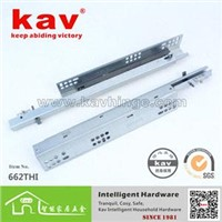 2 fold single extension soft close concealed drawer slide