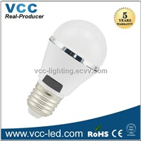 3W led bulb white plastic housing