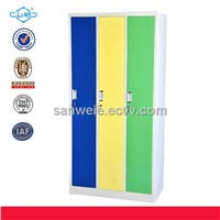 3 doors steel wardrobe locker