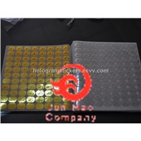 3d world logo hologram sticker , size 13*19mm
