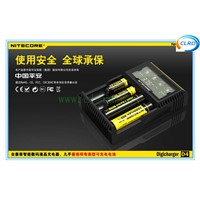 4 slots fast LCD screen Nitecore D4 charger