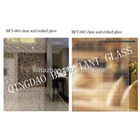 4mm,5mm,6mm Acid etched Decorative Art Glass