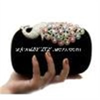 Alloy Diamond Peacock Wedding bag Banquet crystal and rhinestone evening bag hard Case Evening Bag
