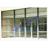 Aluminium spring door,shopfront door,spring doors,commercial spring door