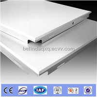 Aluminum clip in roofing square ceiling tile