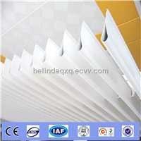 Artistic sun louver curtain Alminum screen ceiling