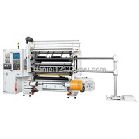 Automatic high-speed packaging film slitting machine