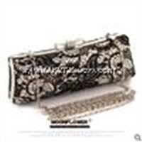Best gift high quality classic women lace clutches with shoulder belt hardcase bag