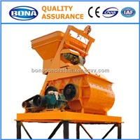 Big concrete mixer, twin shaft concrete mixer industry