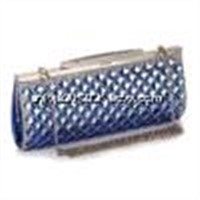 Blue color glass decorative 2014 fashion hand bag women messenger bags with chain belt bag