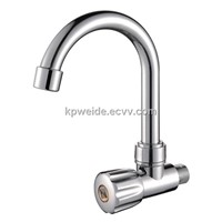 2015 Hot Sales Good Quality Brushed Nickle Plastic Kitchen faucet KF-1902-38