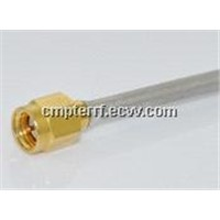Cable Assembly, SMA Straight Male to SMA Straight Male, .141 Semi-Rigid Cable, 40cm
