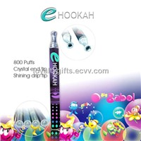 Crystal tip 800 puffs electric hookah pipe e cigarette e hookah pen hookah pipes