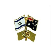 Custom 2014 New Arrival Design National Flag Metal Pin Badge