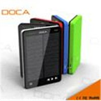 DOCA D595 10000mah External Solar Power Bank with MP3 Function