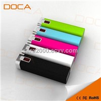 DOCA new design power bank with 2600 mAh D516 for mobile phone