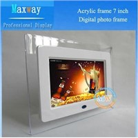 Digital photo frame with set time on/off and motion sensor lcd picture frame