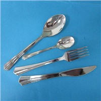 Disposable PS plastic fork, knife, spoon