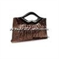 Elegant quality best women sequined mouth shape clutches evening bag for wedding feast party