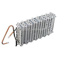 Fin condenser for freezer and refrigerator