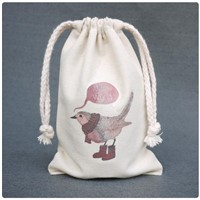 For promotion cotton drawstring bag