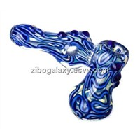 Glass smoking pipe glass bubbler