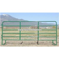 Green color powder coated 6 bars 1.8 height horse corral fence