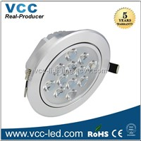 High power Epistar 12w led downlight 1200lm dimmable