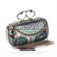 High quality national element  Spangle designer open mini day clutches with factory price
