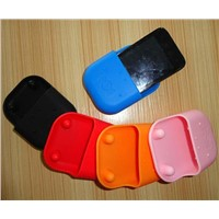 Hippo shape universial powerless mini portable silicone amplifier speaker