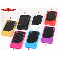 Hot Sell Carbon Fiber Iphone 4G 4S Cases Multi Color Beauty Gift Box