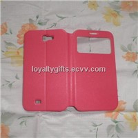 Hot selling  Samsung smartphone 7100 Leather case with stamping Logo