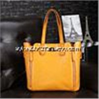 Hot selling top quality star style fashion business lady leather handbag in China
