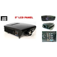 LED+LCD Hometheater projector, Portable beamer for online games, home cinema with kids and lovers