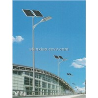 LED solar light pole