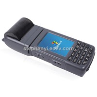 Mobile POS machine portable POS terminal with 58mm thermal printer&barcode scanner&WIFI PDA