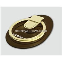 Mobile Phone Grip & Stand of Zinc Alloy Material with Black/White/Coffee Colors