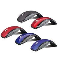New Mini USB 2.4Ghz Snap-in Transceiver Optical Foldable Folding Arc Wireless Mouse