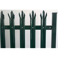 "Palisade fencing - security wire fence with ""D""/ ""W"" section pales"