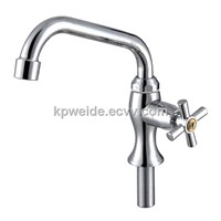 2015 Hot Sales Plastic  Nickle Chrome Plating Kitchen Faucet KF-2201-39