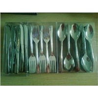 Plastic fork, knife, spoon