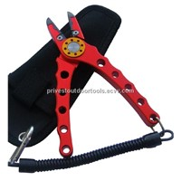 "Premium Fishing Pliers 6.5"" Aluminum Fishing Pliers with Lanyard and Holster"
