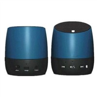 Rechargeable Mini Bluetooth Stereo Speakers with Microphone/USB/SD/Phone Talk Function, Metal Case